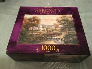 2002 VERMONT'S COLONIAL TIME/ Serenity Series a Rose Art 1000 pc puzzle **NEW**