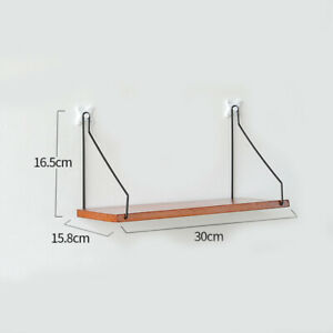 Hanging Wall Mounted Wood Partition Board Display Rack Storage Shelf Home Decor