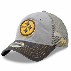 Pittsburgh Steelers New Era 9Twenty Grayed Pop Trucker's Adjustable Cap Hat $24