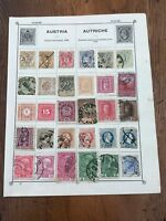 an album page of victorian austrian stamps ( private collection )