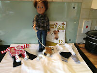 DESIGN A FRIEND  BOY DOLL JOSH, EXTRA OUTFITS and DOG BUNDLE-EXCELLENT CONDITION