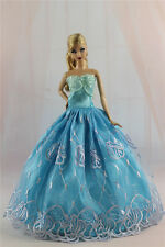 Blue Fashion Princess Party Dress/Evening Clothes/Gown For Barbie Doll S330