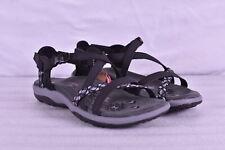 Women's Skechers Reggae Slim - Vacay Strappy Sandals, Black, 5M