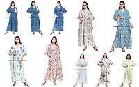 Boho Long Indian Kaftan Plus Size Women Dress Caftan Hippy Casual Beach Dress