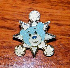 Build-a-Bear Workshop 2009 Blue Glitter Bear Snowflake Pin & Pin Back Only