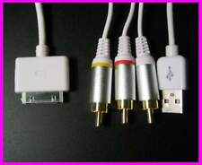 Cable RCA et de Charge pour iPhone 2G 3G 4G ipod touch Ipad