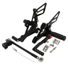 CNC Adjustable Footpegs Rearsets Set For Honda CBR650F CBR 650F 2014 2015 Black