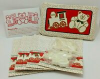 Vintage 1983 Avon Holiday Cookie Kit w/ Teddy Bear & Train Cutters New Open Box