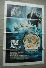 "GRAY LADY DOWN 1978 Original One-Sheet Movie Poster 27"" x 41"" Charlton Heston"