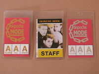 DEPECHE MODE - Collection of THREE (3) Laminated Backstage Tour Passes