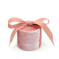 Pink Round Bowknot Jewelry Box For Wedding Ring Earring Necklace Jewelry 1PC h