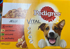 Pedigree Wet Dog Food Adult Dogs 1+Mixed Selection in Jelly,12 Pouches (12x100g)
