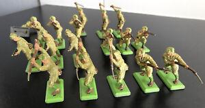 LOT DE SOLDATS ARMEE JAPONAISE 39-45 BRITAINS DEETAIL VINTAGE RARE