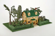 Lot 4183 MTH Lionel Blech- Vorstadt-Villa mit Garten, senffarbend, OVP, Spur 0