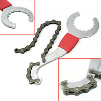 New Bike Bicycle Chain Whip Bottom Bracket Freewheel Wrench Repair Remover Tool