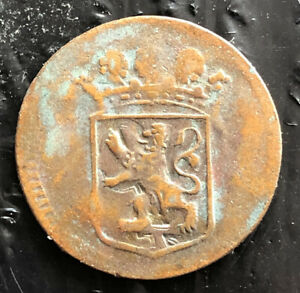 NETHERLANDS EAST INDIES 1753 1 DUIT COPPER HOLLAND VERY NICE COIN L3