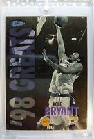 Rare: 1997 97 ULTRA GOLD MEDALLION Kobe Bryant #252G, 98 Greats, Insert Parallel