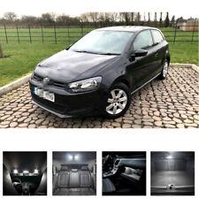 FOR VW POLO V MK5 6R 2006 to 2015 WHITE LED INTERIOR LIGHT Full SET KIT BULBS