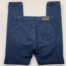 Raleigh Denim Mens Graham Straight Jeans Blue Dark Wash Button Fly 29x34