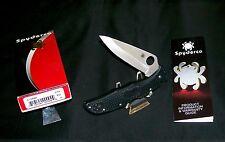 "Spyderco Endura Knife ""C10PBK"" Lockback 5"" Saber ground VG-10 W/Packaging,Papers"