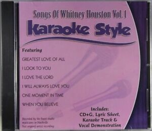 Songs of Whitney Houston Volume 1 Karaoke Style NEW CD+G Daywind 6 Songs