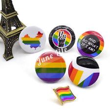 Rainbow Gay Lesbian LGBT Pride Symbol Flag Pin Badge Brooch Support Love Gift