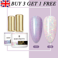 BORN PRETTY 2 Colors Set UV LED Nail Gel Polish Soak off Nail Base Top Coat 10ml