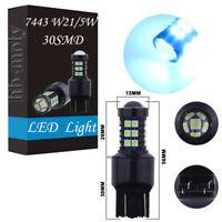 2x 7440 7443 T20 W21/5W LED Bulbs Daytime Running Light Ice Blue For VW Golf MK6