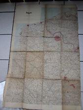 echte alte Landkarte ©1914 Hrsg:Stellvertretender Generalstab der Armee 94x60cm