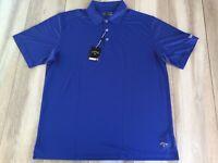 Callaway Mens Golf Polo Shirt Size XL Core Performance Blue Custom Embroidery **
