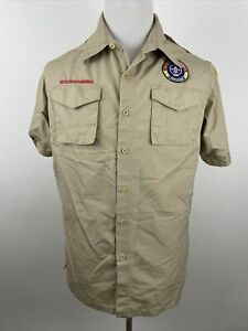 BOY SCOUTS Of America Uniform Shirt W/ Patches Adult Mens Medium