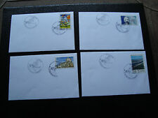 FRANCE - 4 enveloppes 12/7/2001 (cy42) french