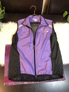 Sugoi Womens Petite Cycling Running Vest Purple Half Zip M