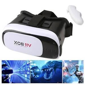 Universal 3D Virtual Reality VR BOX V2.0 Glasses Headset + Bluetooth Remote NEW