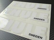 Thule decals, stickers, 3D domed hight quality made, WEISS farbe