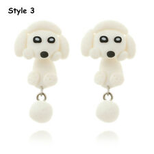 Handmade Polymer Clay Cute Dogs Puppy Earrings Women Animal Ear Stud Jewelry Style 3