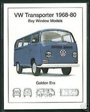 VW BAY WINDOW TRANSPORTER ('68-80) Collectors Card Set - Volkswagen Camper Van