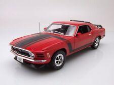 Ford Mustang Boss 302 1970 rojo, Coche Modelo 1:18 / WELLY