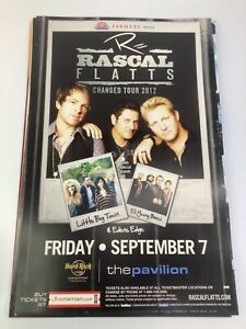 """Rascal Flats MUSIC 1 SIDED 11"""" x 17"""" PROMO thick stock Poster"""