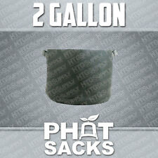 2 GALLON FABRIC GROW POTS SMART g container gro sacks breathable pots planters 1