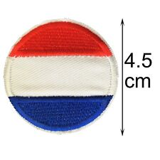 Dutch Flag round iron on patch Netherlands Holland flags EU embroidery patches