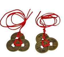 6* Fashion Chinese Feng Shui Coins Pendants Necklaces For Wealth Success Lucky