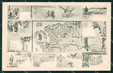 Militari Reggimentale I Corpo Armata Torino 1904 ABRASA cartolina XF6894