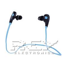 Auriculares BLUETOOTH 4.0 Manos Libres Deportivos Color Negro-Azul Nuevo d07