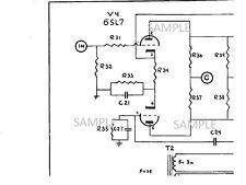 Electronic Diagram for AMPEG 625D Vacuum Tube Amplifier Schematic