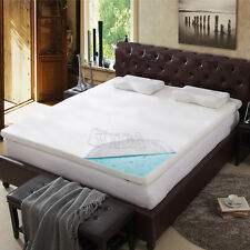 """3"""" inch Queen Cool Gel Memory Foam Mattress Bed topper pad with cover"""