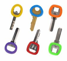 8 Pcs Key Ring Cover, Rubber Key Identifier Tags, Color Coded Key ID in 8 Colors