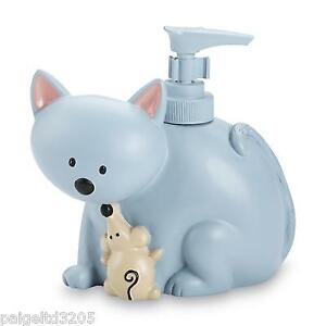 Essential Home Cat and Mouse Lotion Pump / Soap Dispenser - Blue