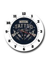TATTOO STUDIO,CLASSIC,ROUND METAL,WALL CLOCK,644