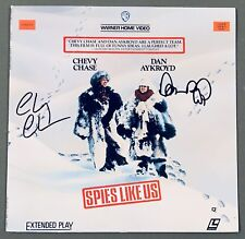 Spies Like Us Laserdisc Hand Signed By Chevy Chase And Dan Aykroyd Rare Comedy